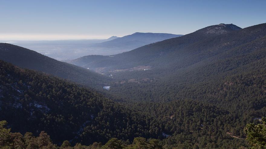 Views of the Cercedilla Fuenfría Valley