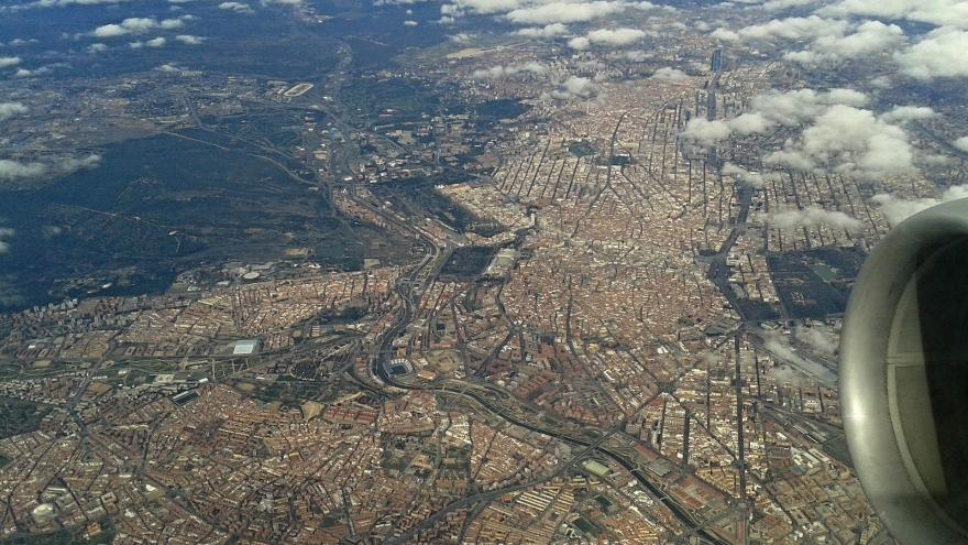 Vista aérea de Madrid
