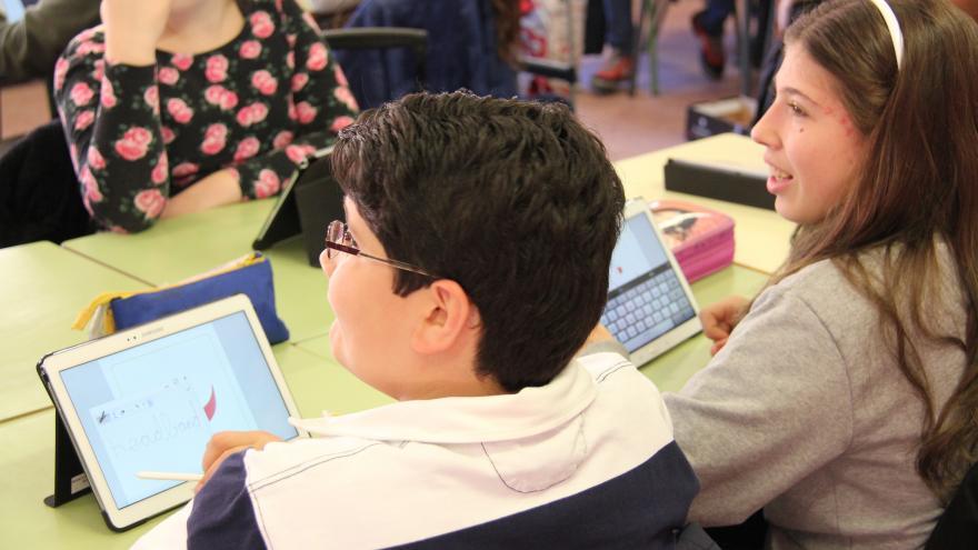 Niños en un colegio de Educación Primaria