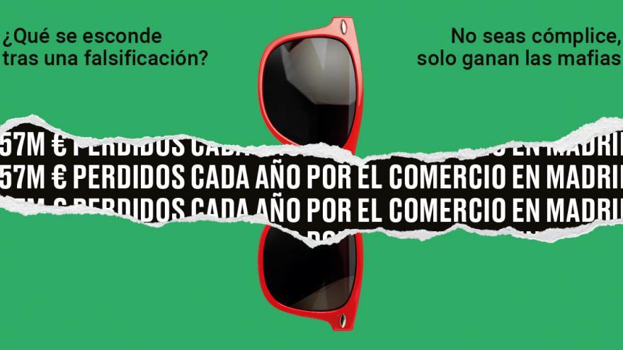Campaña venta ilegal Ayuntamiento Madrid gafas