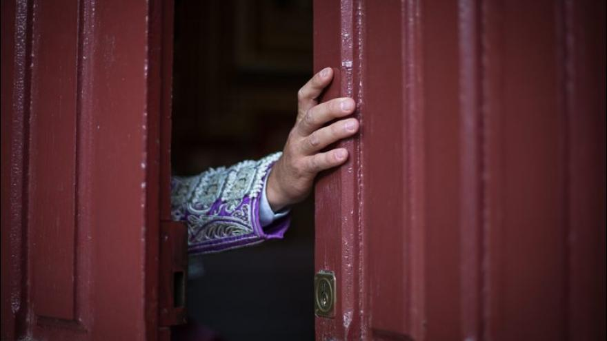 La puerta de la capilla