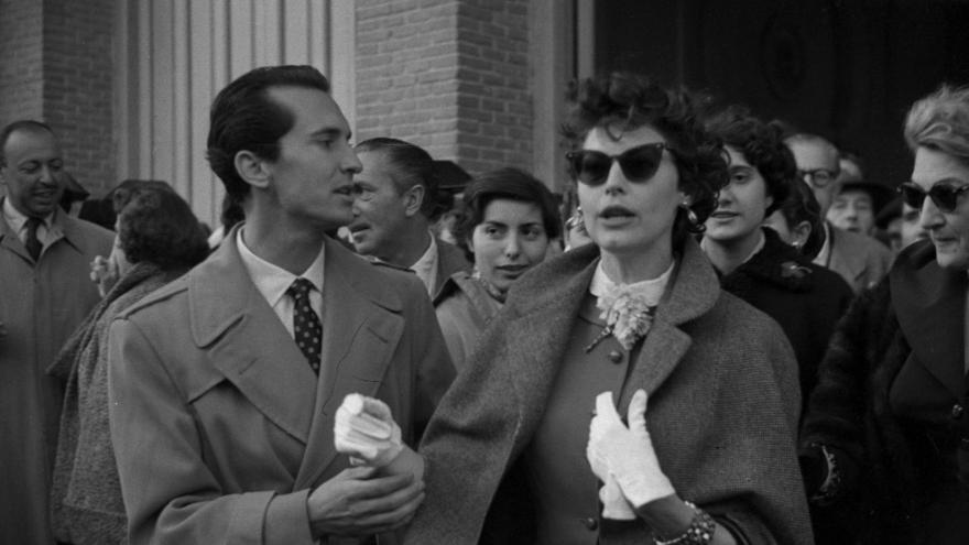 Ava Gardner y Luis Miguel Dominguin.Santos Yubero. Archivo Regional de la C. de Madrid.