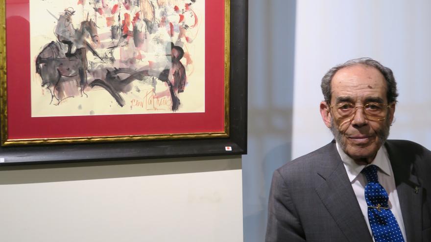 El pintor César Palacios (Fotografía de Manuel Durán)