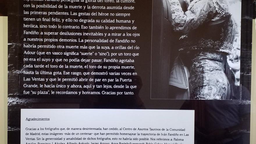 """Exposición """"Iván Fandiño en Las Ventas"""""""