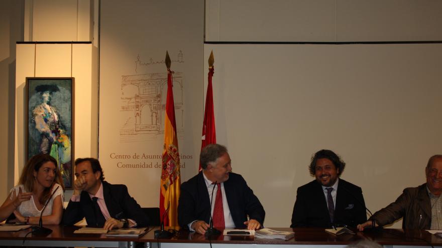 Inauguración con Diego Ramos, Felipe Negret, José María Moreno y miembros del CAT