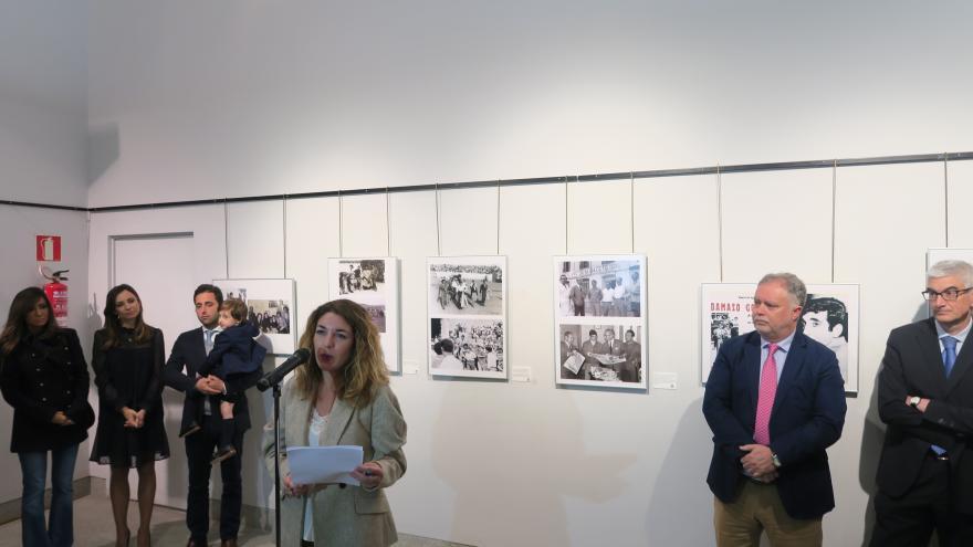 Acto de inauguración en la Sala Antoñete de Las Ventas (Fotografía de Manuel Durán)