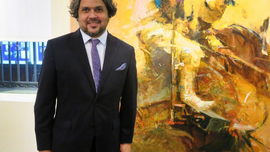 El artista Diego Ramos