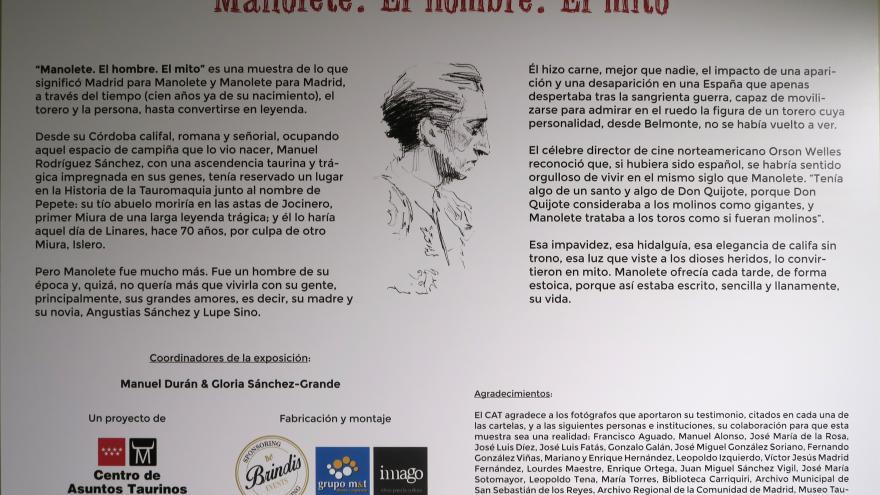 """Exposición """"Manolete. El hombre. El mito"""""""
