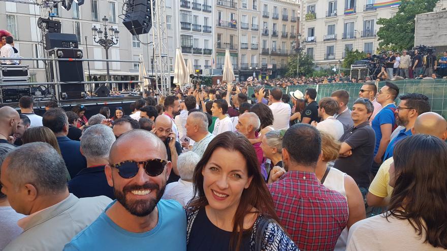 El consejero de Cultura, Turismo y Deportes, Jaime de los Santos, ha asistido hoy a la lectura del pregón que da inicio al MADO Madrid Orgullo 2018, el mayor acontecimiento reivindicativo, cultural, turístico y festivo que tiene lugar en la Comunidad de M