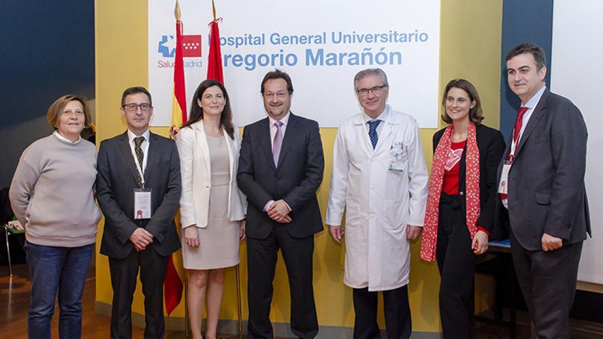 Autoridades sanitarias participantes en el 25 curso de cardiología pediatrica del Hospital Gregorio Marañón