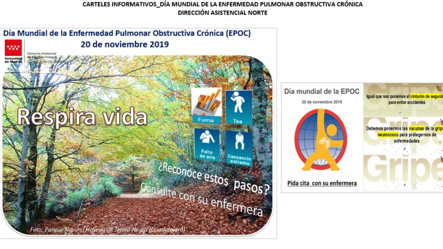 Cartel con motivo del Día Mundial de la EPOC