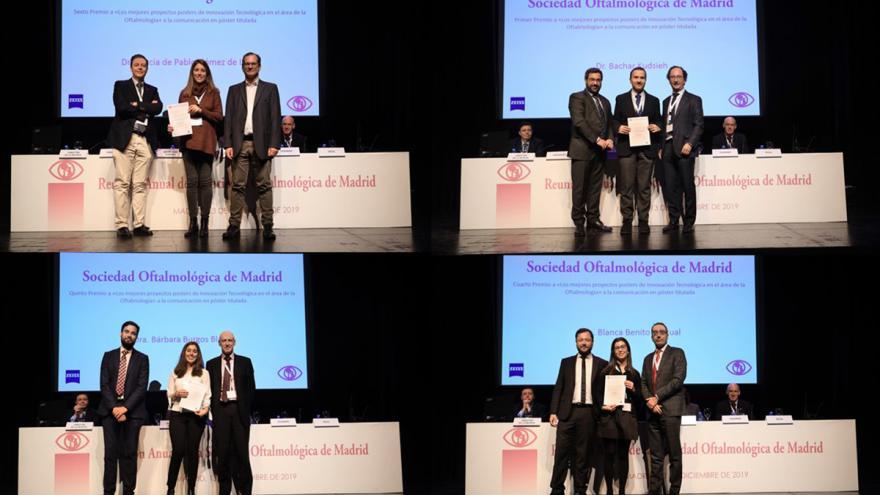 Diferentes premiados en el momento de entrega del galardon