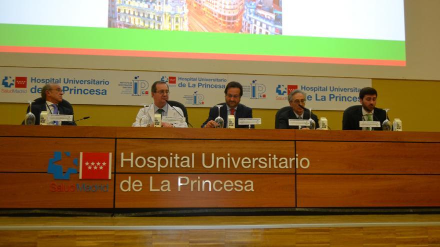 Mesa inaugural de la jornada de enfermedades renales del Hospital de La Princesa, abril 2019