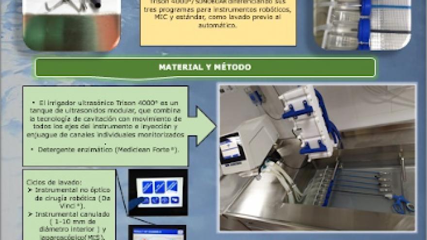 Imagen del póster ganador del Hospital Universitario Ramón y Cajal