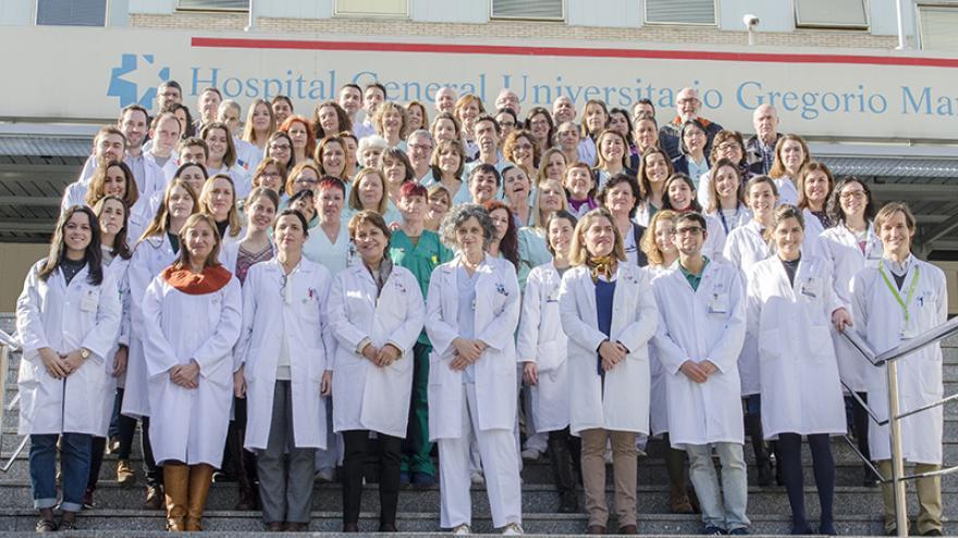 Profesionales del Servicio de Farmacia del Hospital General Universitario Gregorio Marañón. Foto de grupo