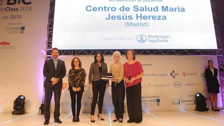 """El Centro de Salud María Jesús Hereza recibe la placa """"Best In Class"""" como mejor centro de salud de España"""