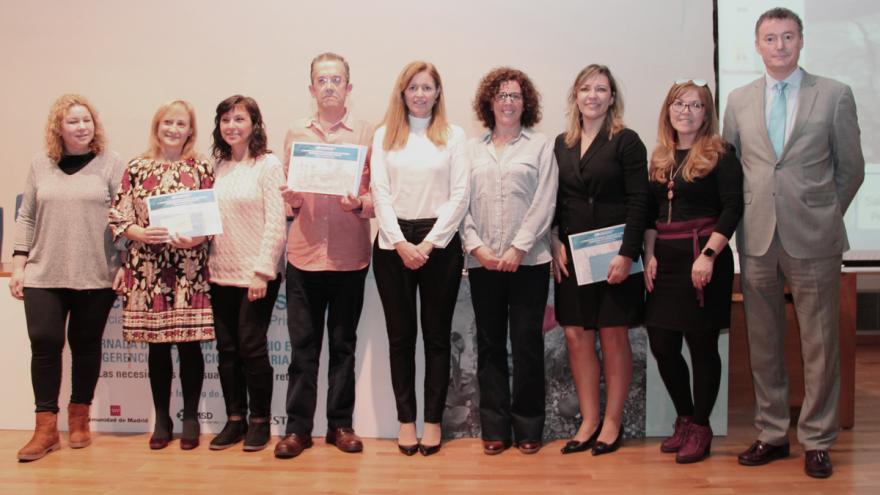 Foto de grupo la V Jornada de Atención al Usuario en la Gerencia de Atención Primaria