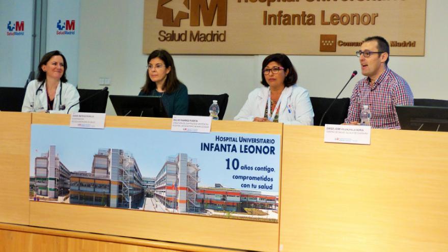 Inauguración del encuentro 'Una vejez joven' en el Hospital Infanta Leonor
