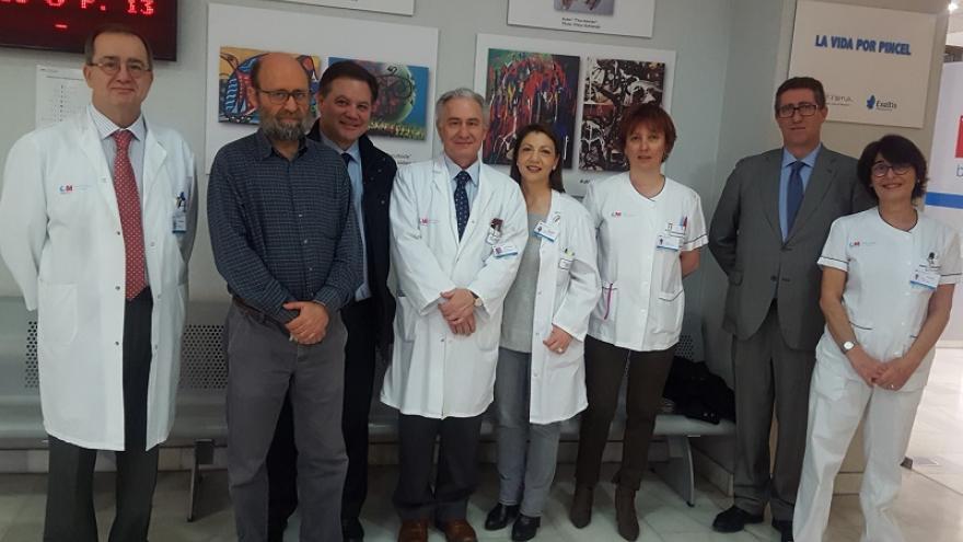 Organizadores de la Exposición La Vida por Pincel en el Hospital Universitario de La Princesa