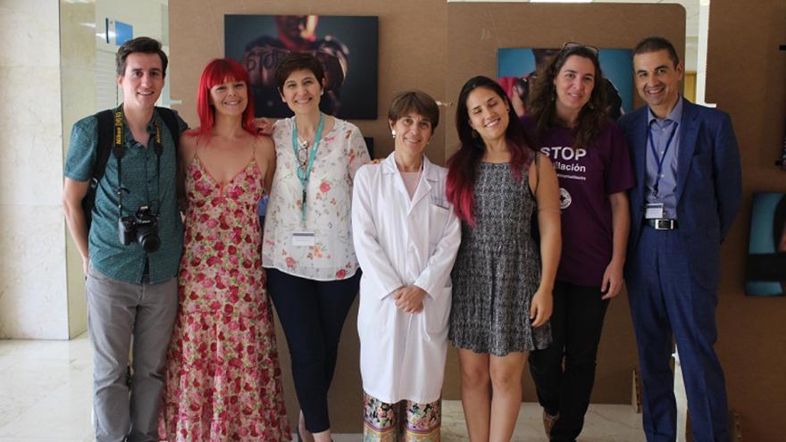 Médicos del mundo y profesionales del Hospital La Paz