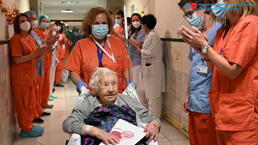 alta de una paciente en el hospital gregorio marañon