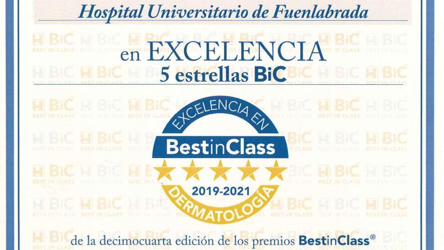 El Servicio de Dermatologia y la Unidad de Dolor, galardonados en los Best in Class 2019
