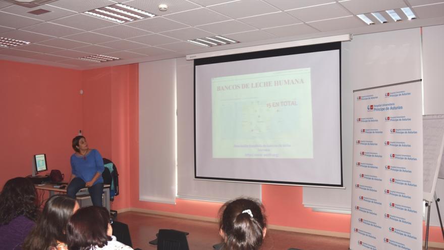 Paz Juárez, durante su ponencia