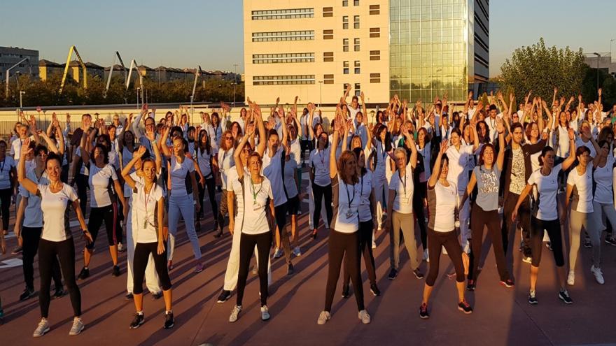 Profesionales del Hospital 12 de Octubre en la masterclass deportiva