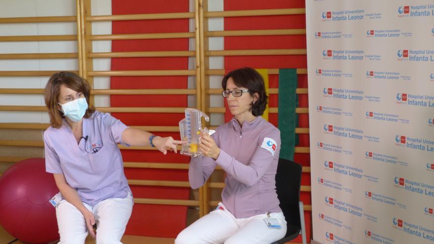 Uso del incentivador respiratorio (Hospital Universitario Infanta Leonor)