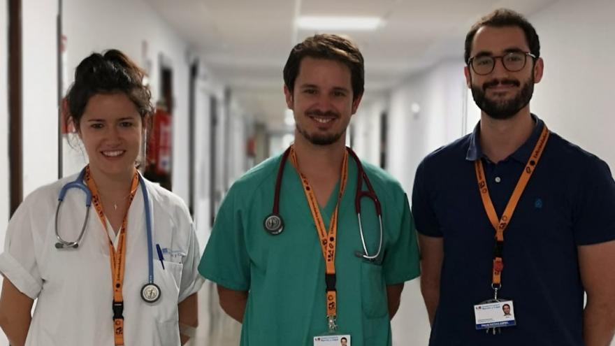 Imagen de parte de los investigadores del Hospital Universitario Ramón y Cajal que han participado en el estudio