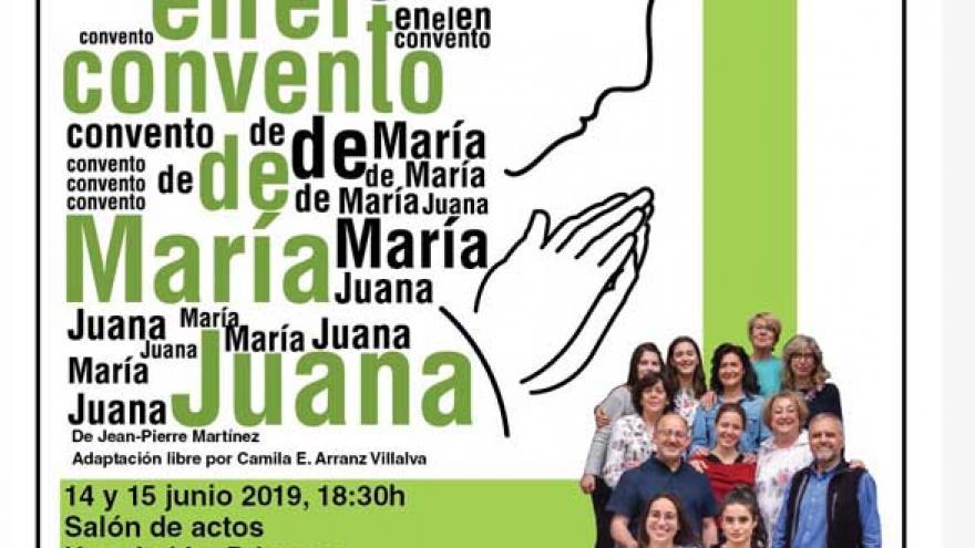 Cartel de la obra Milagro en el convento de María Juana