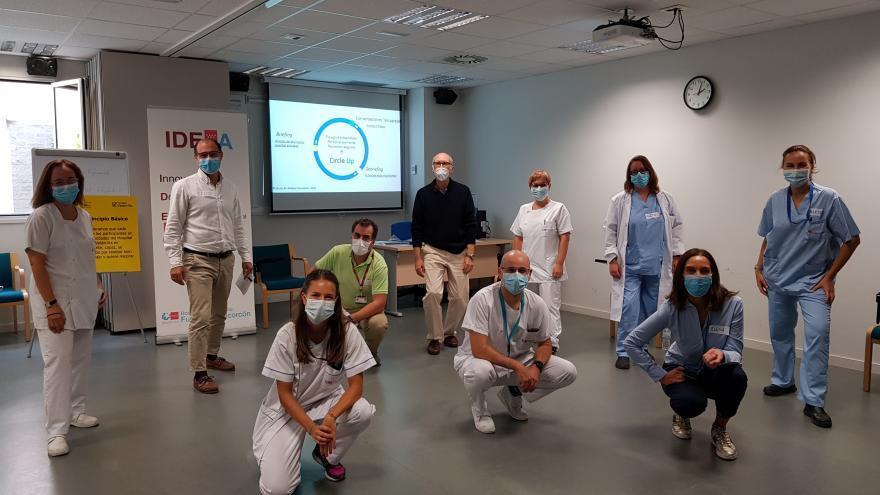 Curso CIrcle-up, entrenamiento en resiliencia con el equipo afiliado el Hospital Virtual Valdecilla
