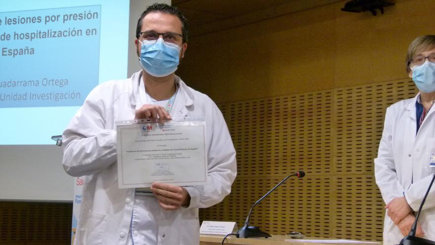 David Guadarrama, premio invstigación enfermería