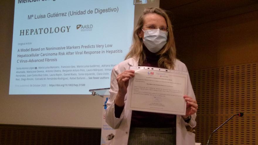 Maria Luisa Gutierrez, mención  mejor factor de impacto