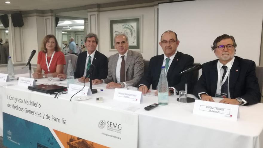Mesa presidencial del I Congreso Madrileño de Médicos Generales y de Familia