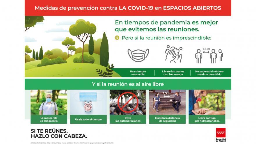Cartel medidas contra covid 19 espacios abiertos pv