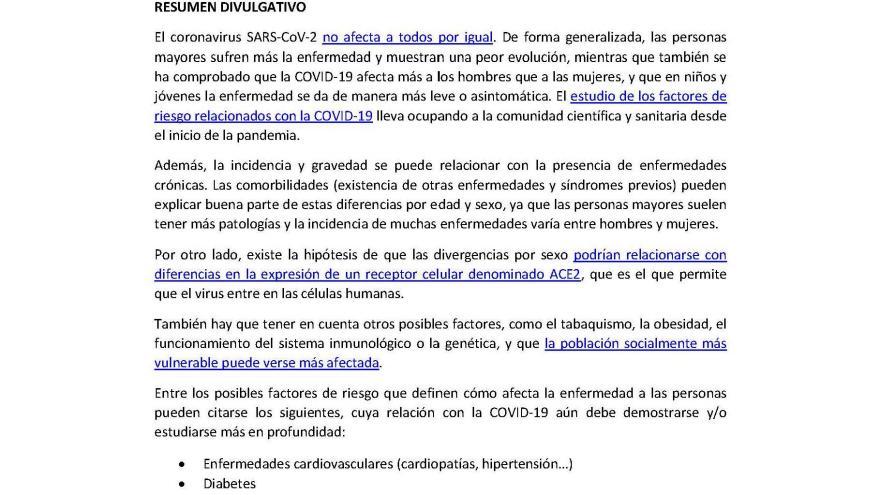 Informe científico del ISCIII del coronavirus