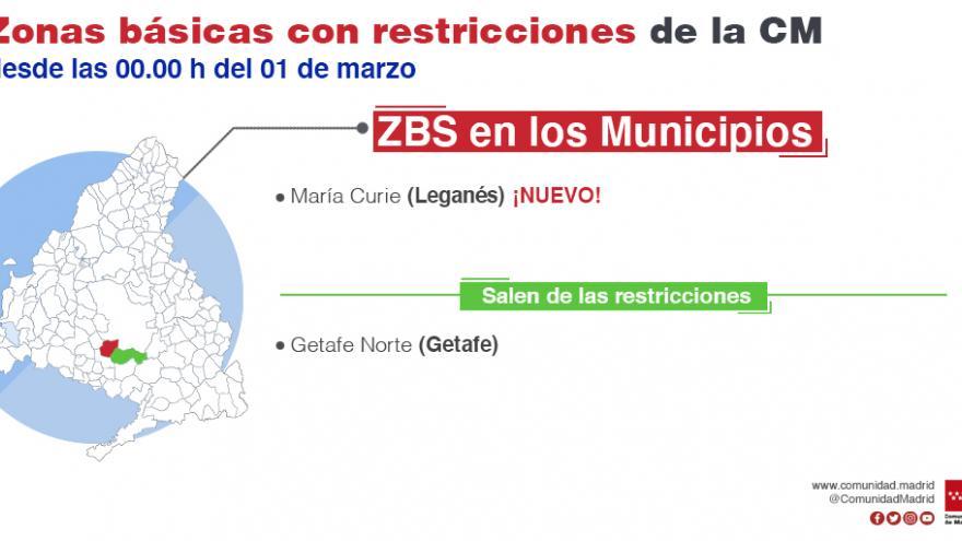 infografía zonas confinadas municipios