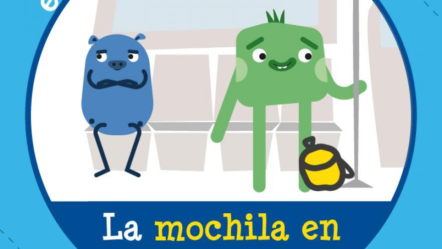 Campaña cívica en Metro. Mochilas