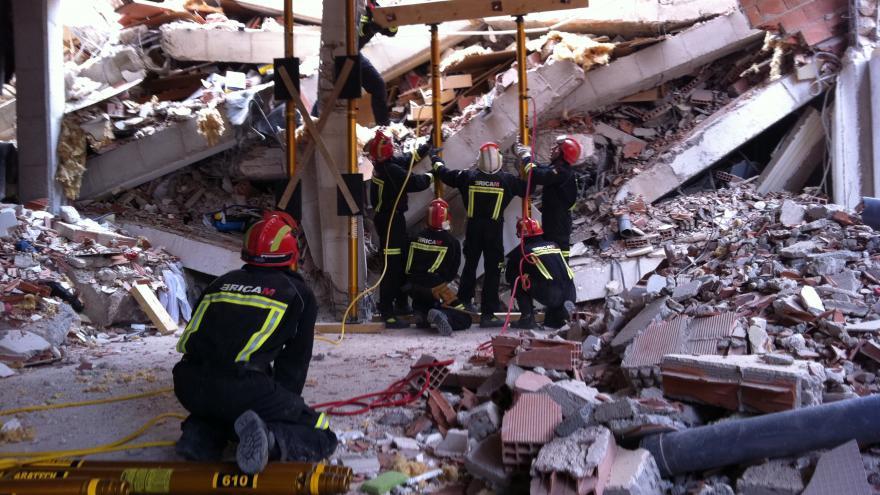 Intervención del ERICAM en el terremoto de Lorca en 2011