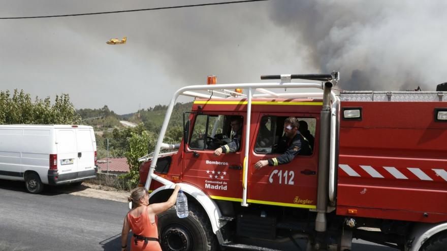 Intervención del ERICAM en los incendios de Portugal en 2017