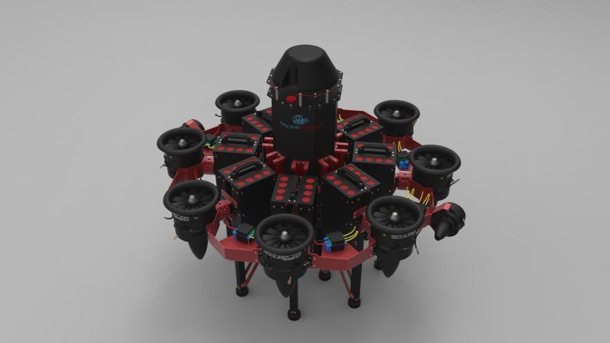 Dron contra incendios