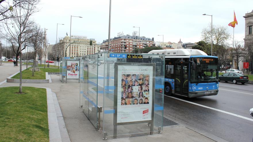 Parada de autobús. Consorcio de Transportes de Madrid