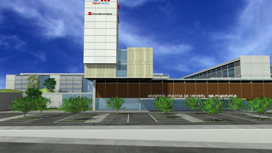 Fachada principal del hospital Puerta de Hierro de Majadahonda