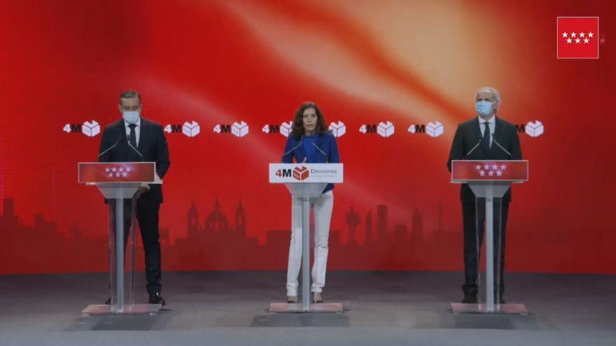 CARBALLEDO, LÓPEZ Y RUIZ ESCUDERO INFORMAN SOBRE LA JORNADA ELECTORAL