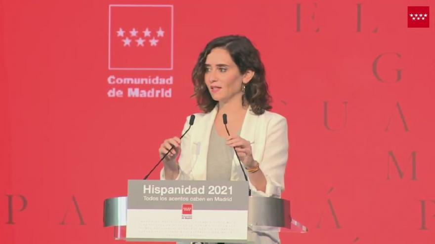 DÍAZ AYUSO PRESENTA LA OFICINA DEL ESPAÑOL Y EL FESTIVAL HISPANIDAD 2021