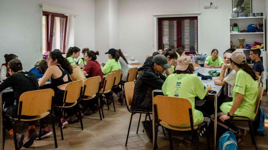 Albergue Juvenil Las Dehesas, sala de trabajo