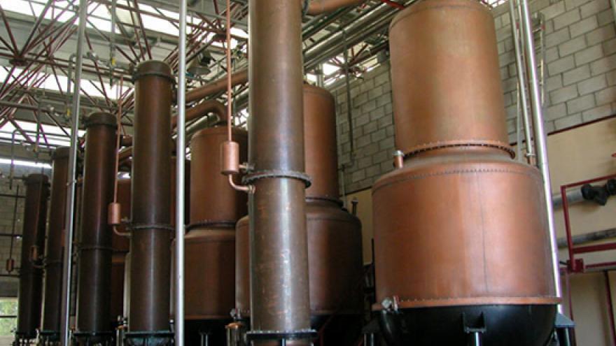 Alambiques de destilación de Anís de Chinchón