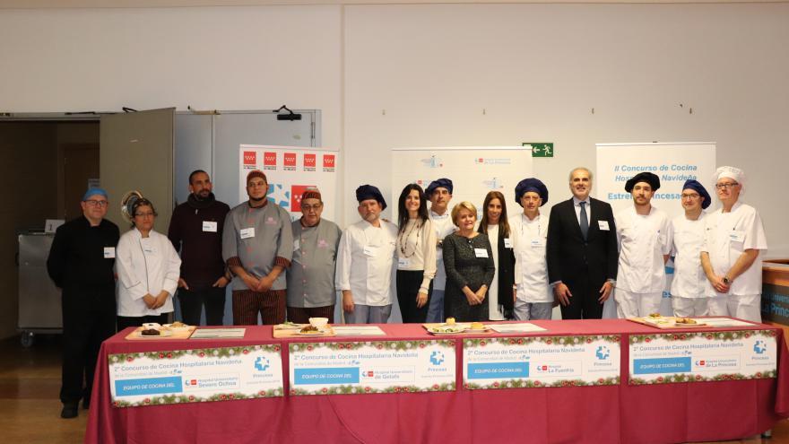 Entrega de premios del segundo concurso de cocina hospitalaria navideña