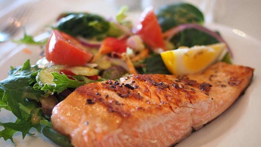 Plato con pescado